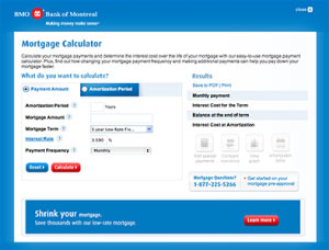 BMO Mortgage Calculator