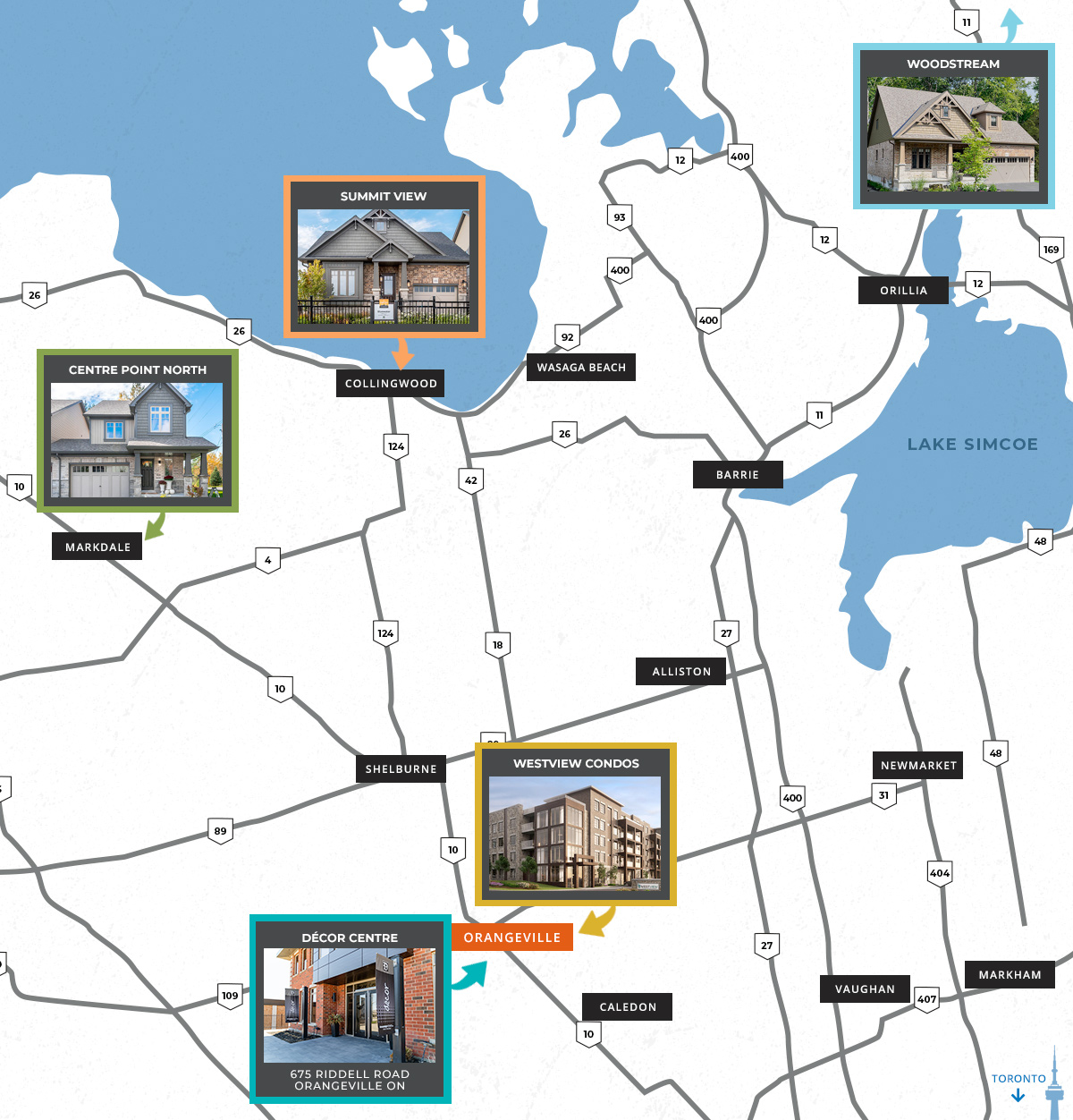 New housing developments in Ontario